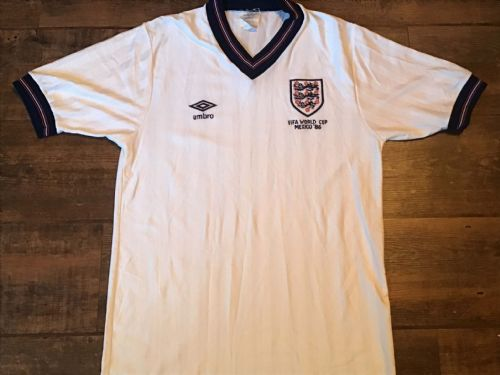 1986 England World Cup Football Shirt Medium